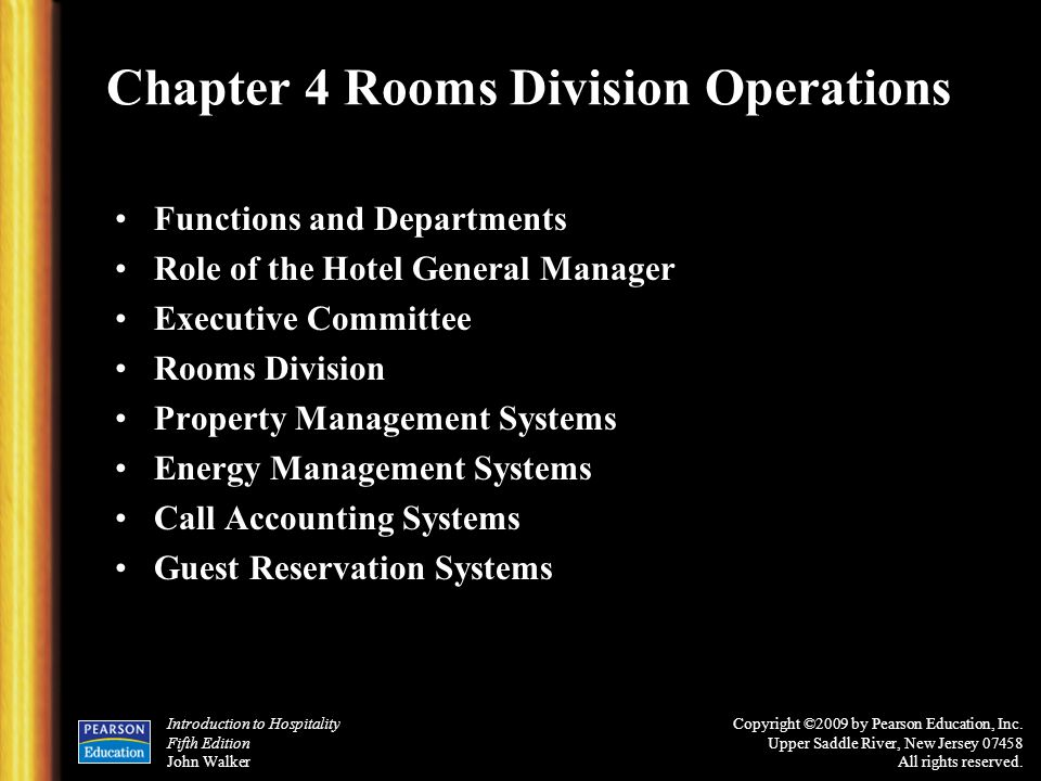 rooms division operation management Alpine center offers the rooms division specialization online/ distance learning in co-operation with the educational institute of the american hotel and lodging association.