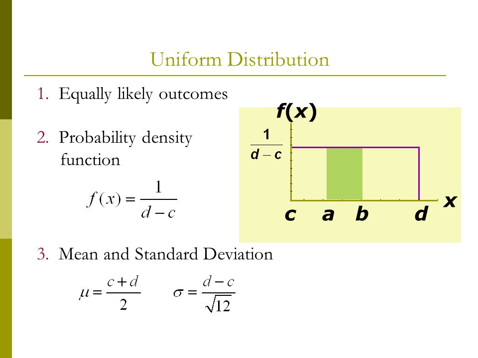 how to find probability distribution with mean and standard deviation