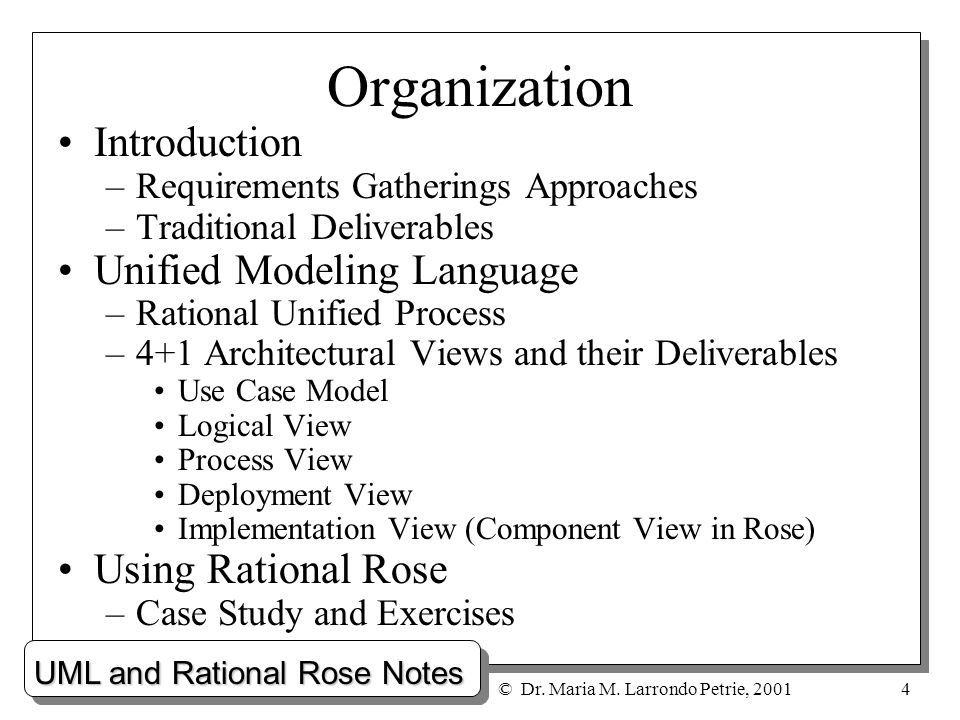 case study on rational unified process Analysis, and presented in the same way as rup itself is presented  the  outcome of the elaboration phase are as follows: (1) a use-case.