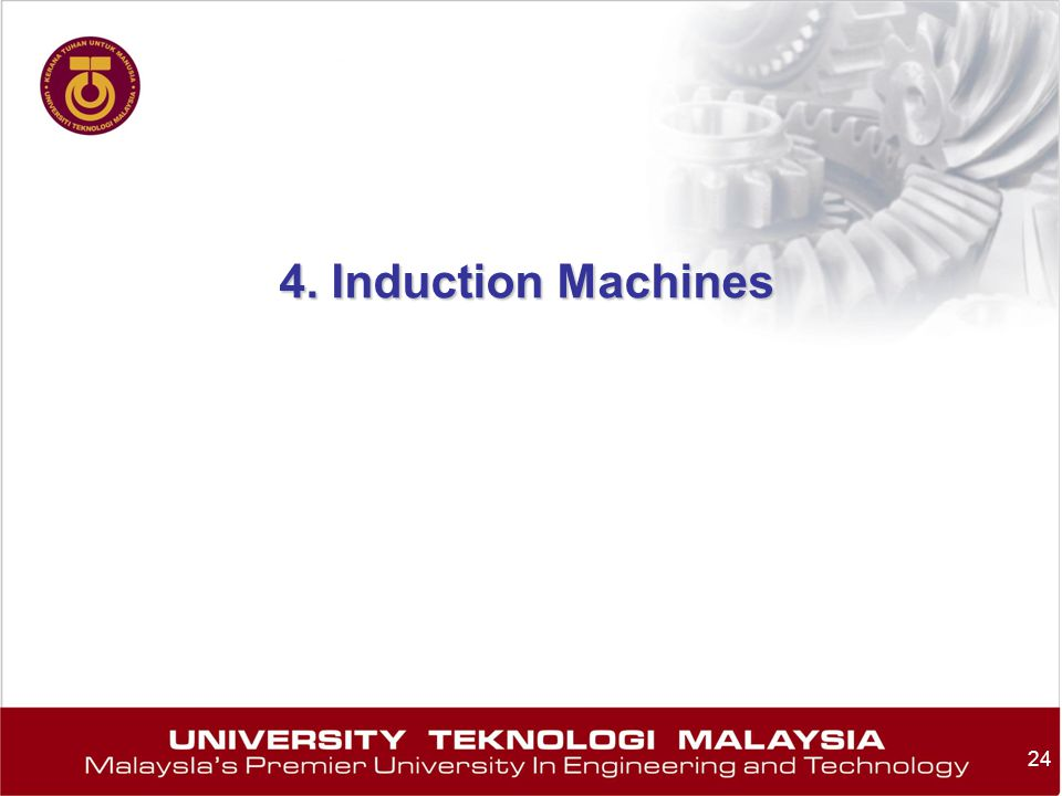 4. Induction Machines