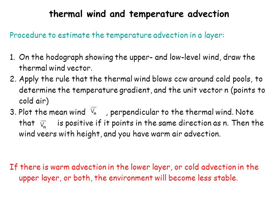 thermal wind and temperature advection