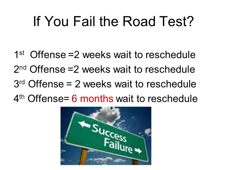 If You Fail the Road Test