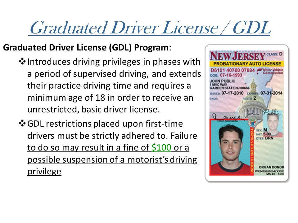 Graduated Driver License / GDL