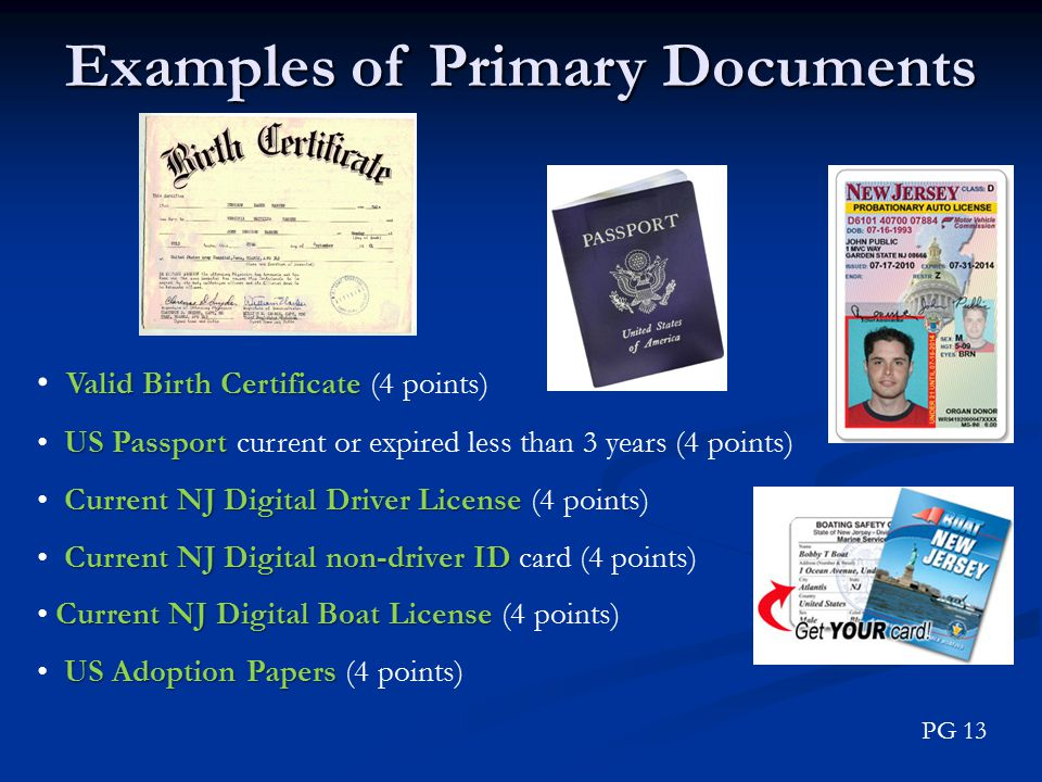 Examples of Primary Documents