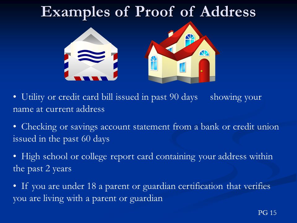 Examples of Proof of Address