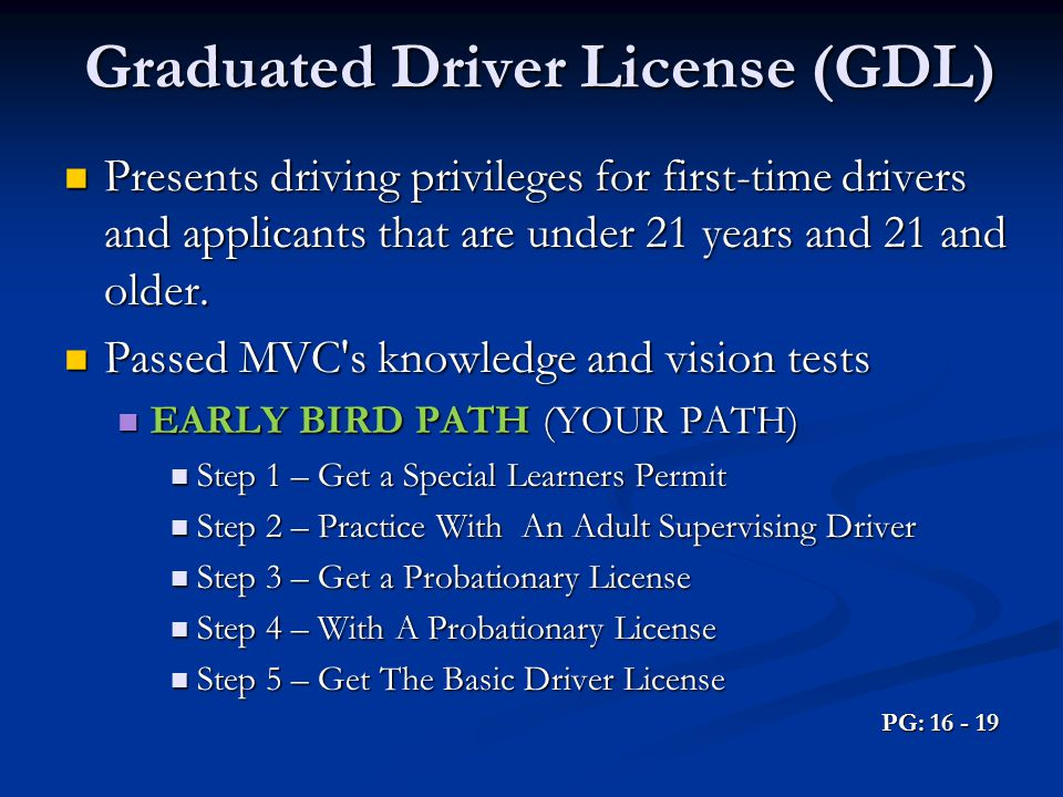 Graduated Driver License (GDL)