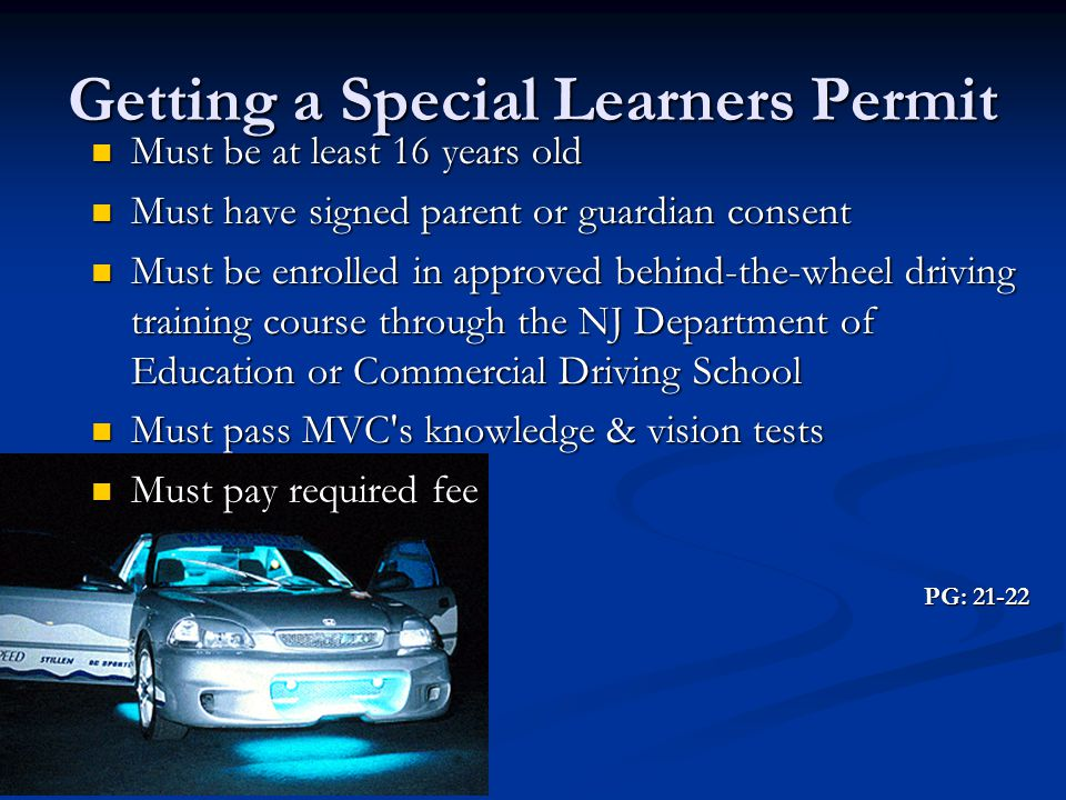 Getting a Special Learners Permit