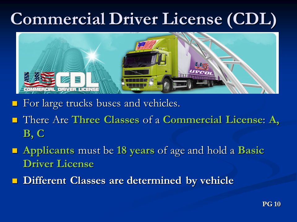 Commercial Driver License (CDL)