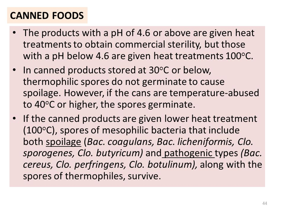 Thermophilic Bacteria In Canned Foods