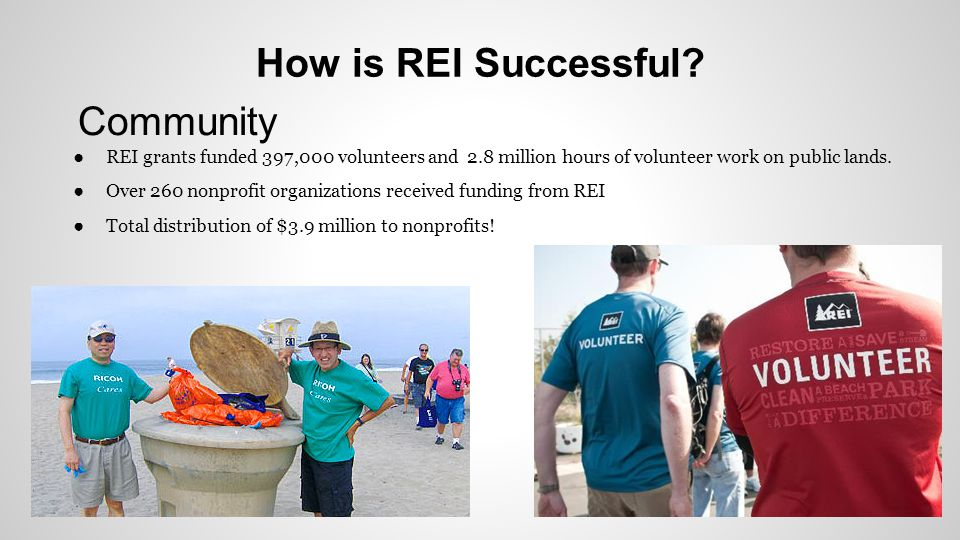 How is REI Successful Community