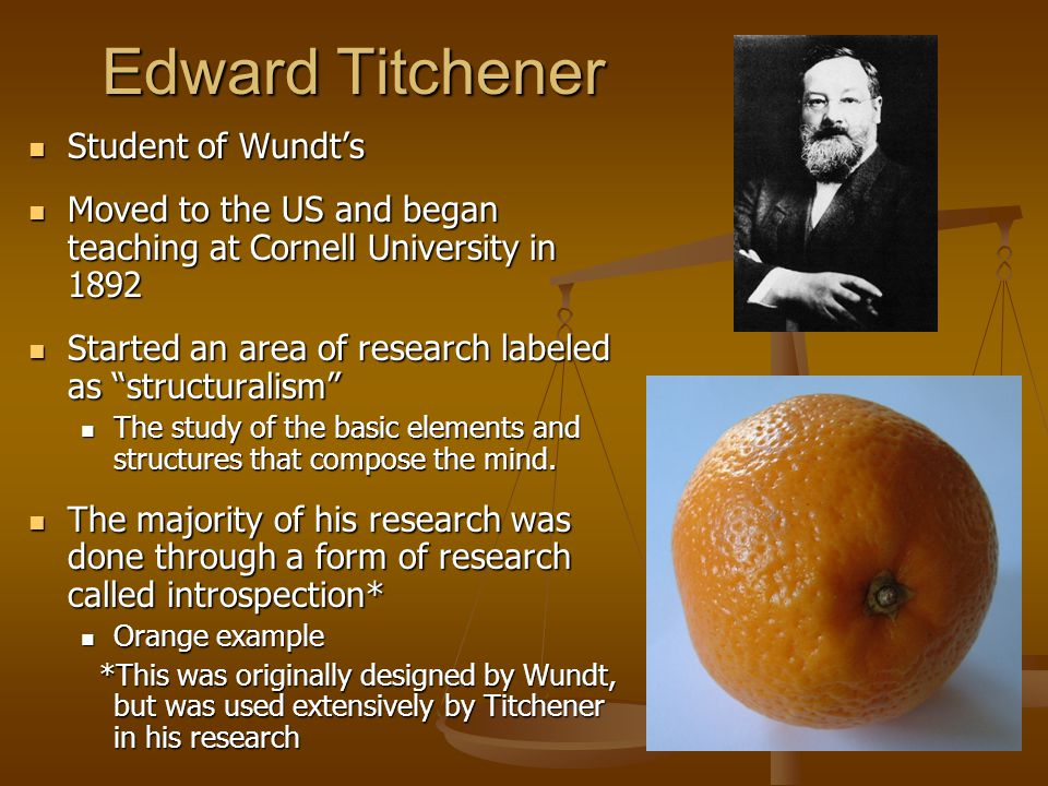 wundt and titchener Wilhelm wundt and edward titchener wilhelm wundt (1832-1920): •established first psychology lab in germany •defined psychology as the science of human.
