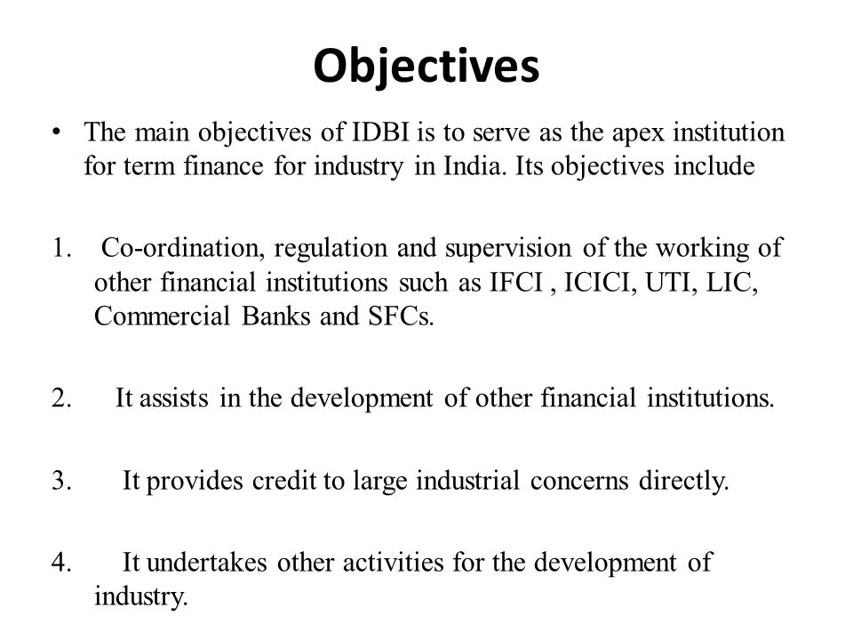 aims and objectives of co operative banks Objectives of cooperative bank supreme court exempts co-operative banks from claiming under recovery of debts due to banks and financial institutions act the case of greater bombay co-op bank ltd v united yarn tex pvt ltd and ors, decided by a three judge bench of the supreme court finally settles the long-ranging debate about the interplay between debt recovery tribunals and co.