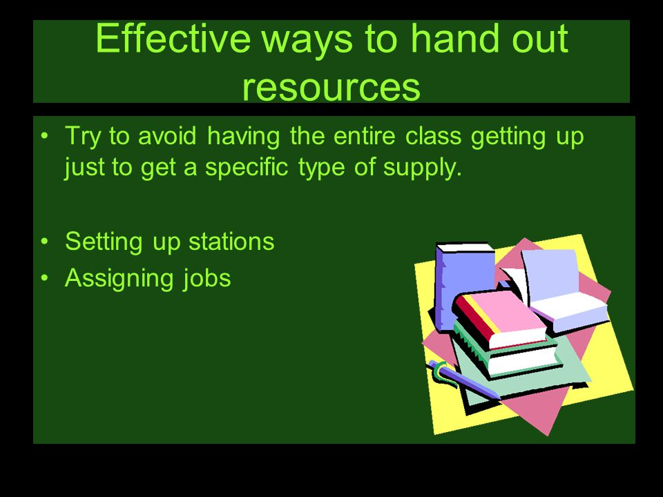 Effective ways to hand out resources