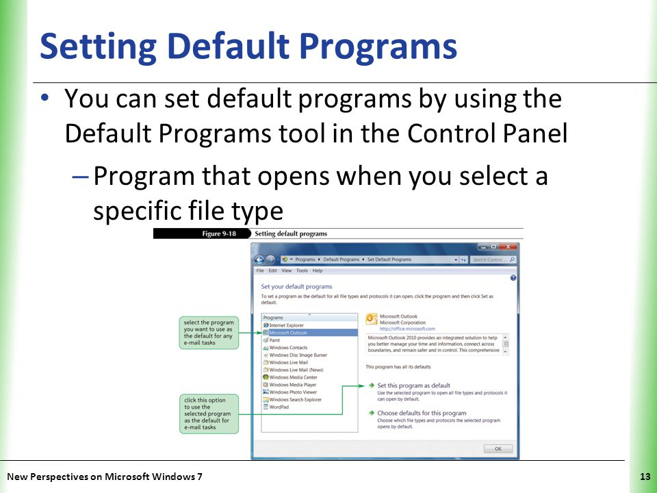 Setting Default Programs
