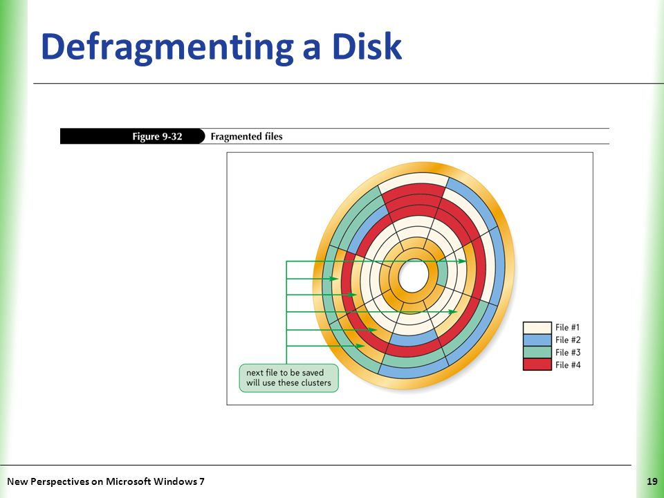 Defragmenting a Disk New Perspectives on Microsoft Windows 7