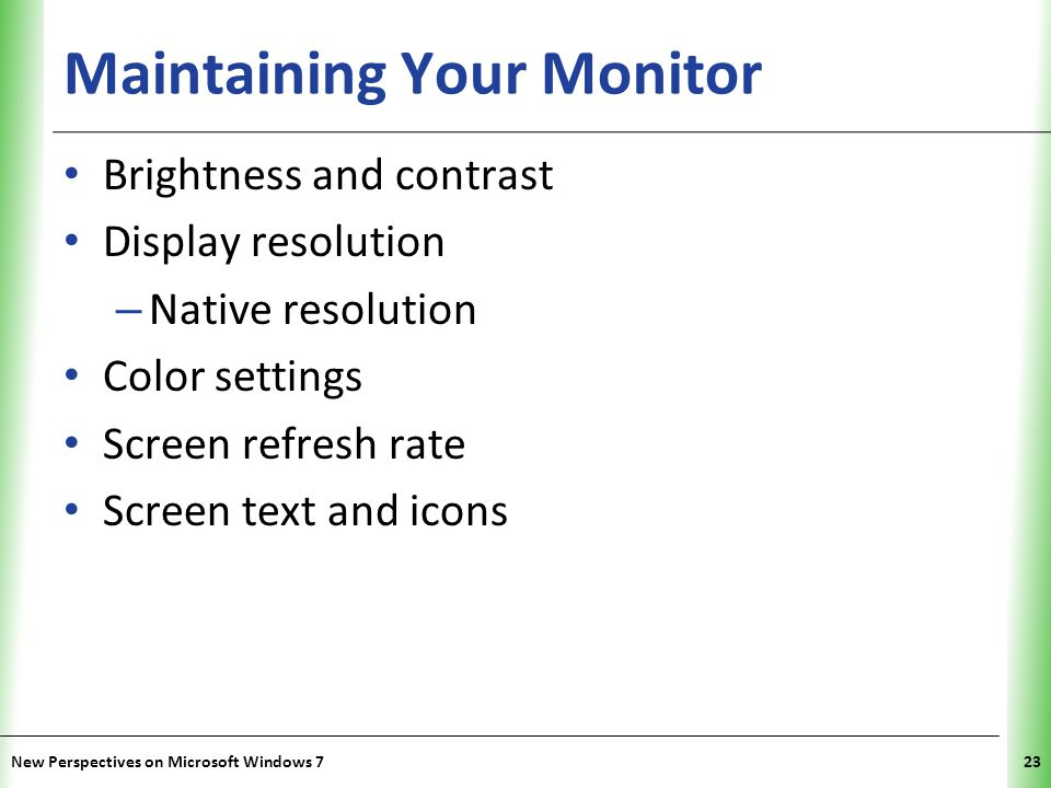 Maintaining Your Monitor