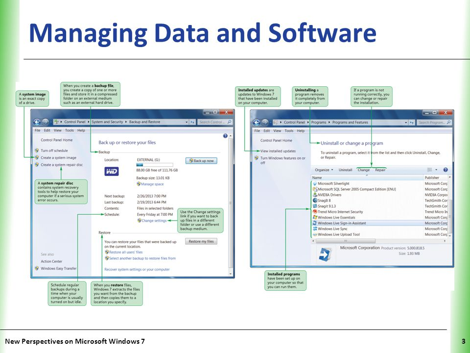 Managing Data and Software