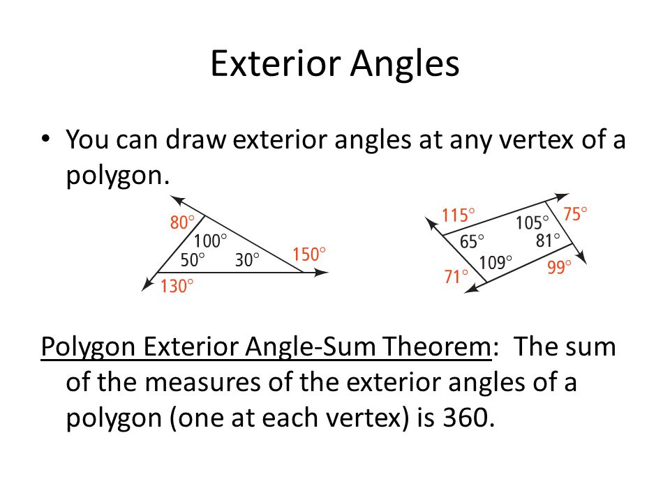 6 1 the polygon angle sum theorems ppt video online download - Sum of exterior angles of polygon ...