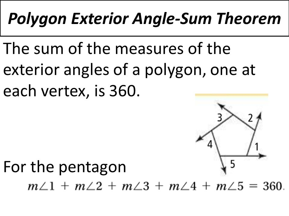 6 1 The Polygon Angle Sum Theorems Ppt Video Online Download