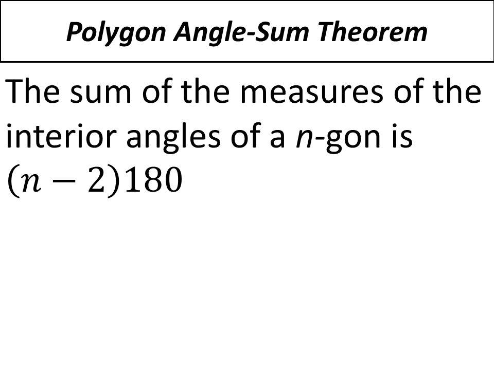 Polygon Angle Sum Theorem