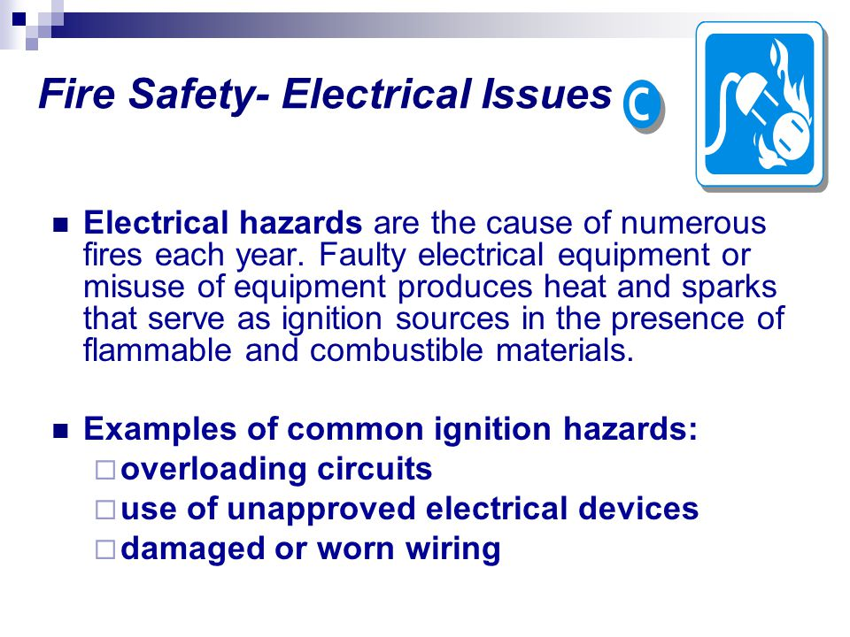 Fire Safety- Electrical Issues
