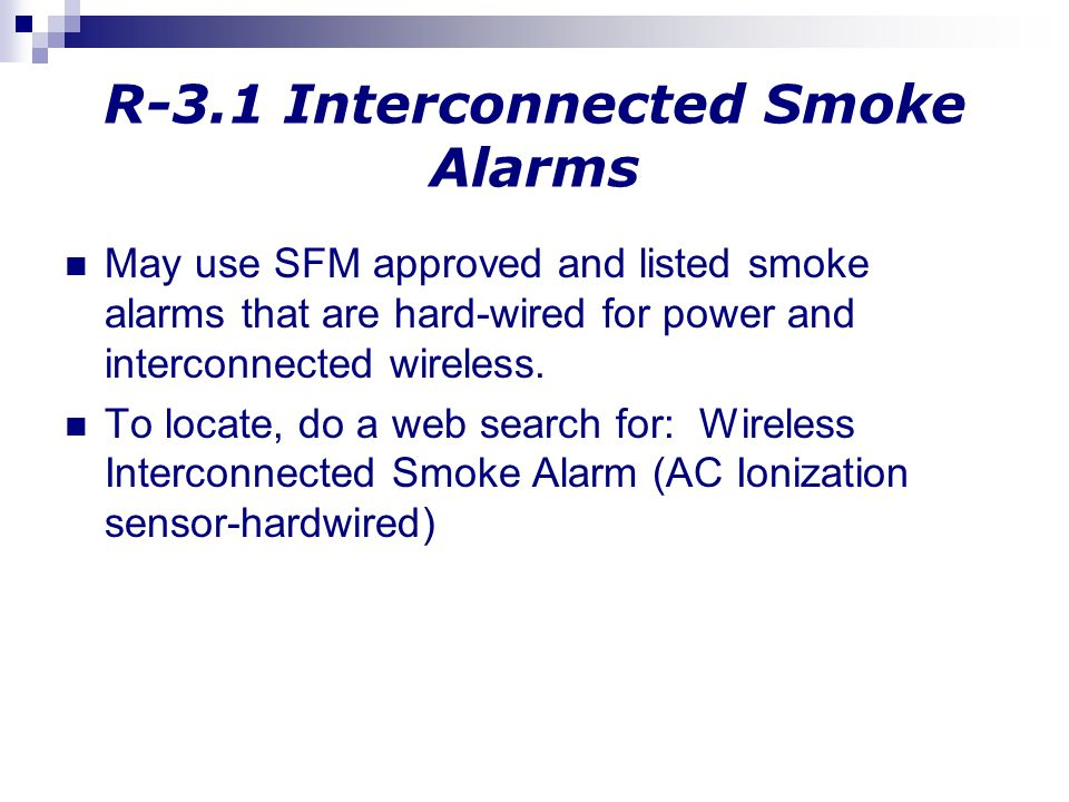 R-3.1 Interconnected Smoke Alarms