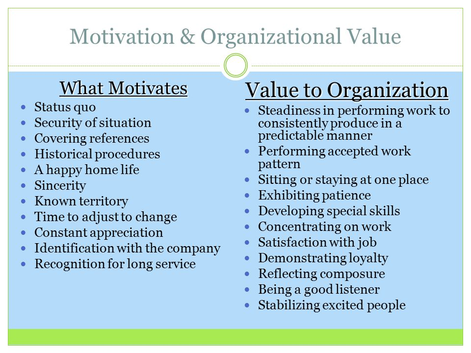 motivational techniques used within an organisation The following article will show you some of the most effective self-motivation techniques that  and the motivational  your motivation within .