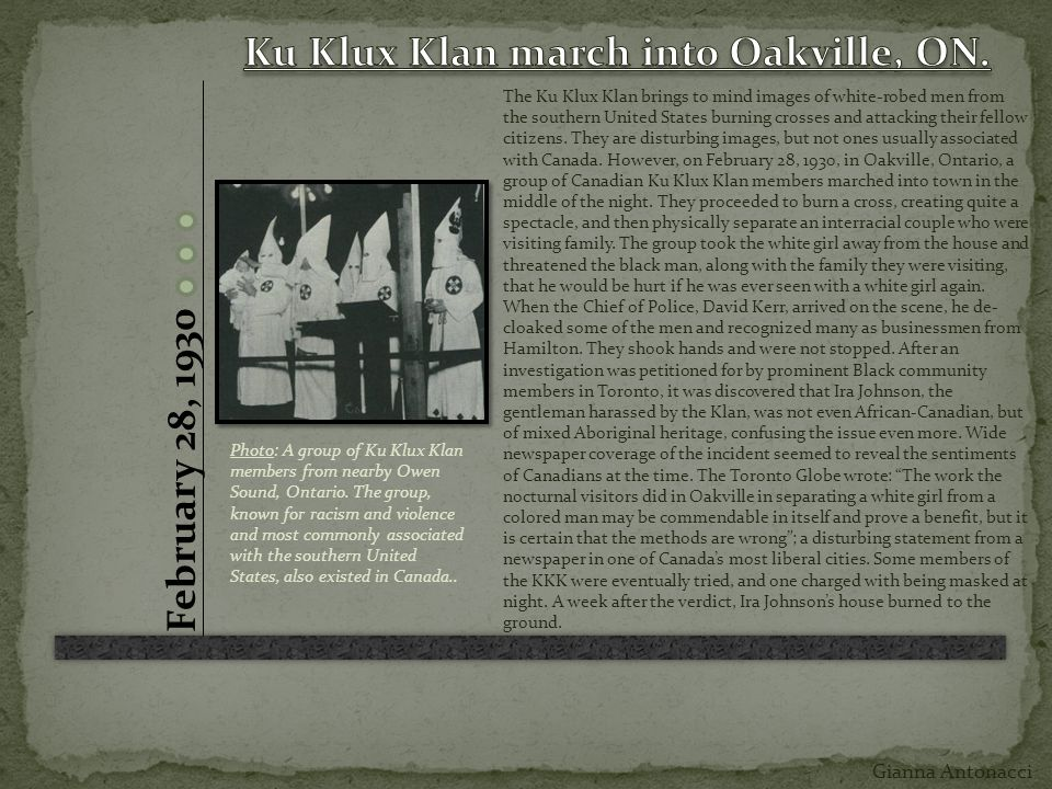 ku klux klan thesis statement
