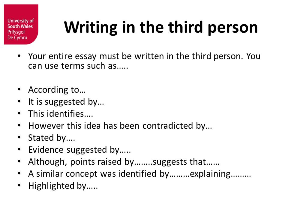 Expert resume writing 3rd person