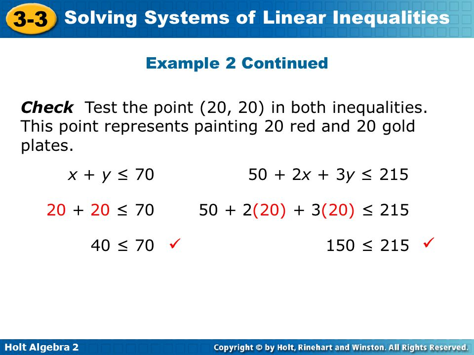 Writing a System of Equations