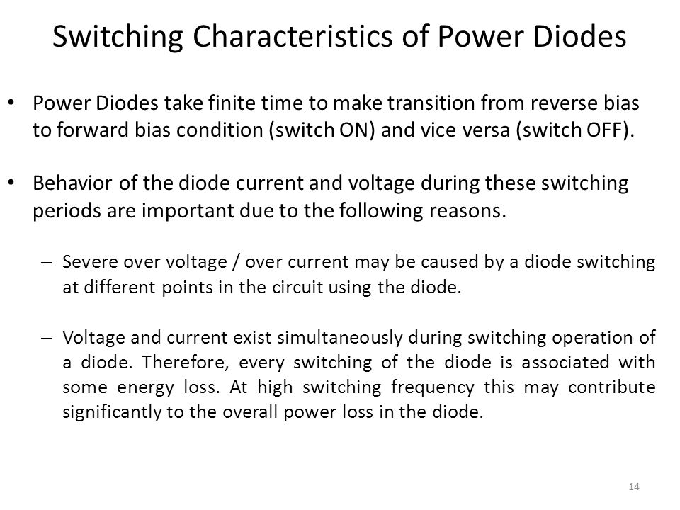 Switching Characteristics of Power Diodes