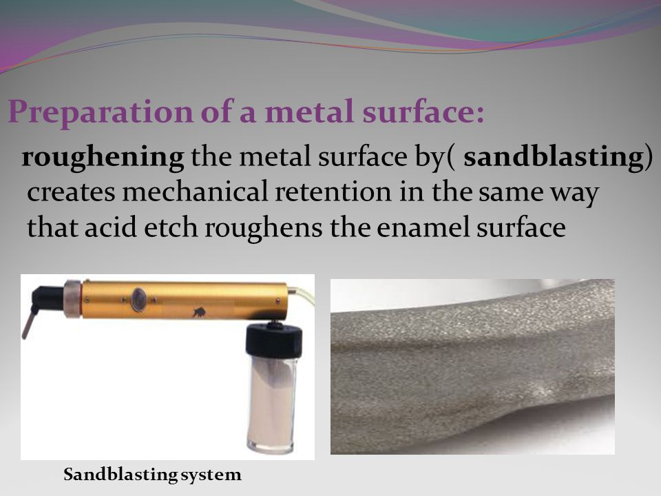 Preparation of a metal surface: