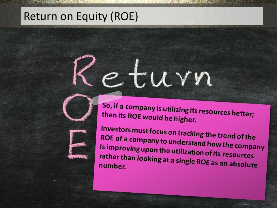 Return on Equity (ROE) Return on Equity (ROE)