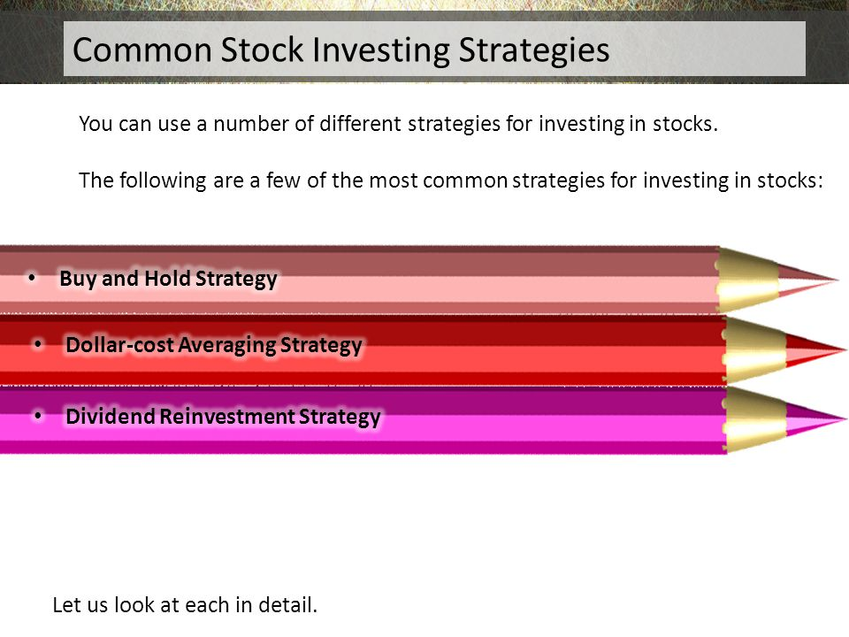 Common Stock Investing Strategies