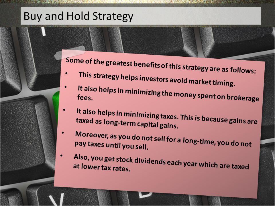Hold Hold Buy and Hold Strategy Buy and Hold Strategy