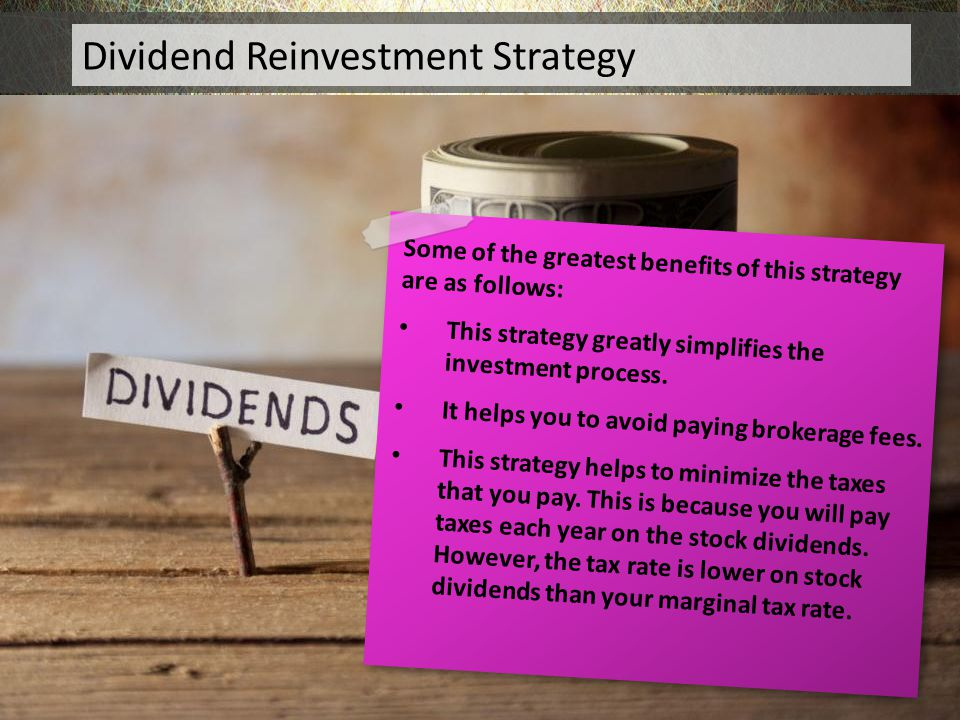 Dividend Reinvestment Strategy
