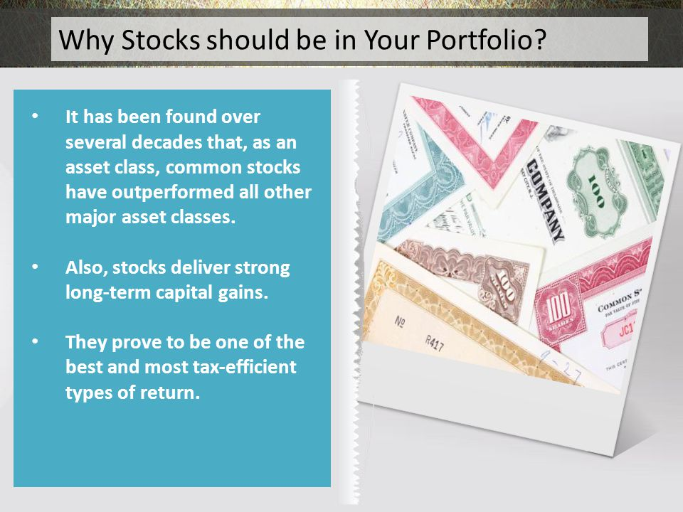 Why Stocks should be in Your Portfolio