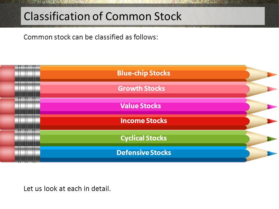 Classification of Common Stock
