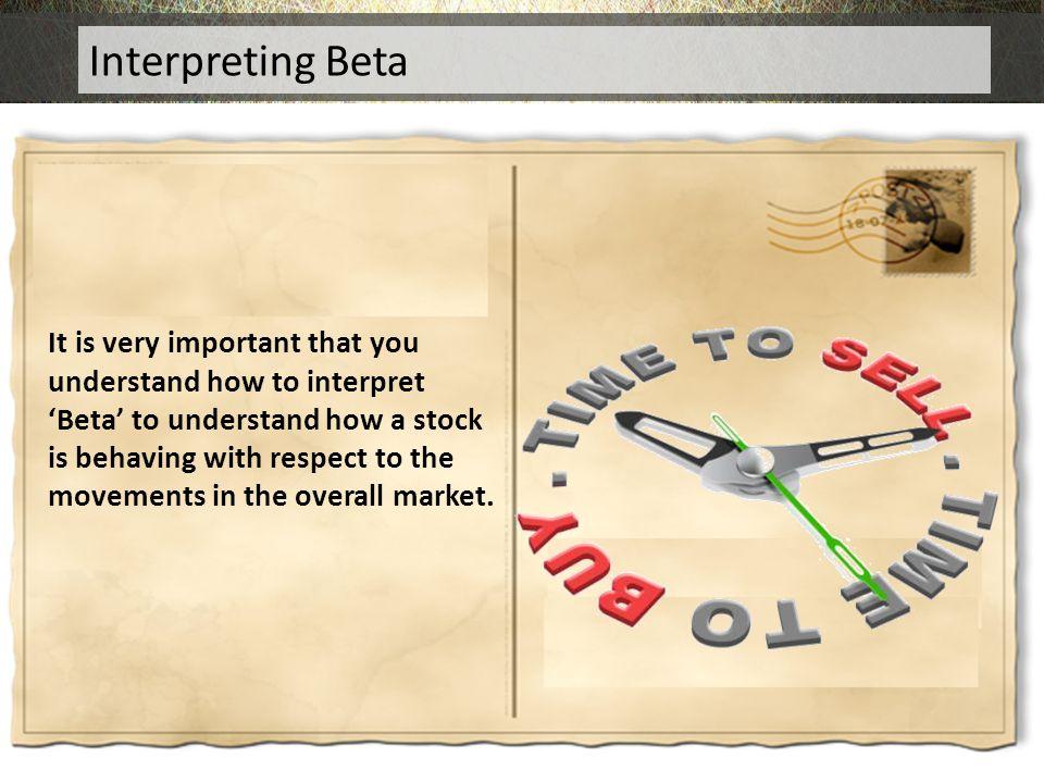 Interpreting Beta