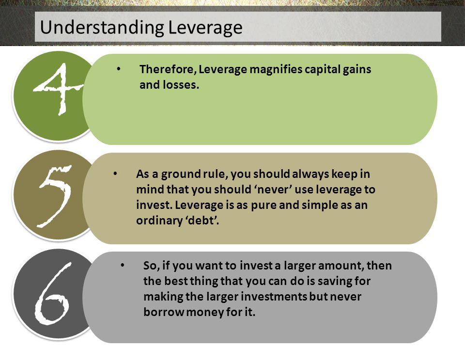 4 5 6 Understanding Leverage