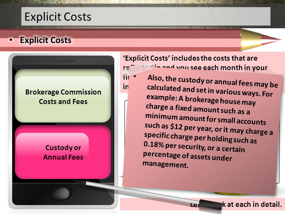 Brokerage Commission Costs and Fees