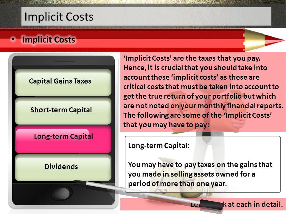 Implicit Costs Implicit Costs