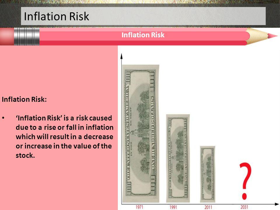 Inflation Risk Inflation Risk Inflation Risk: