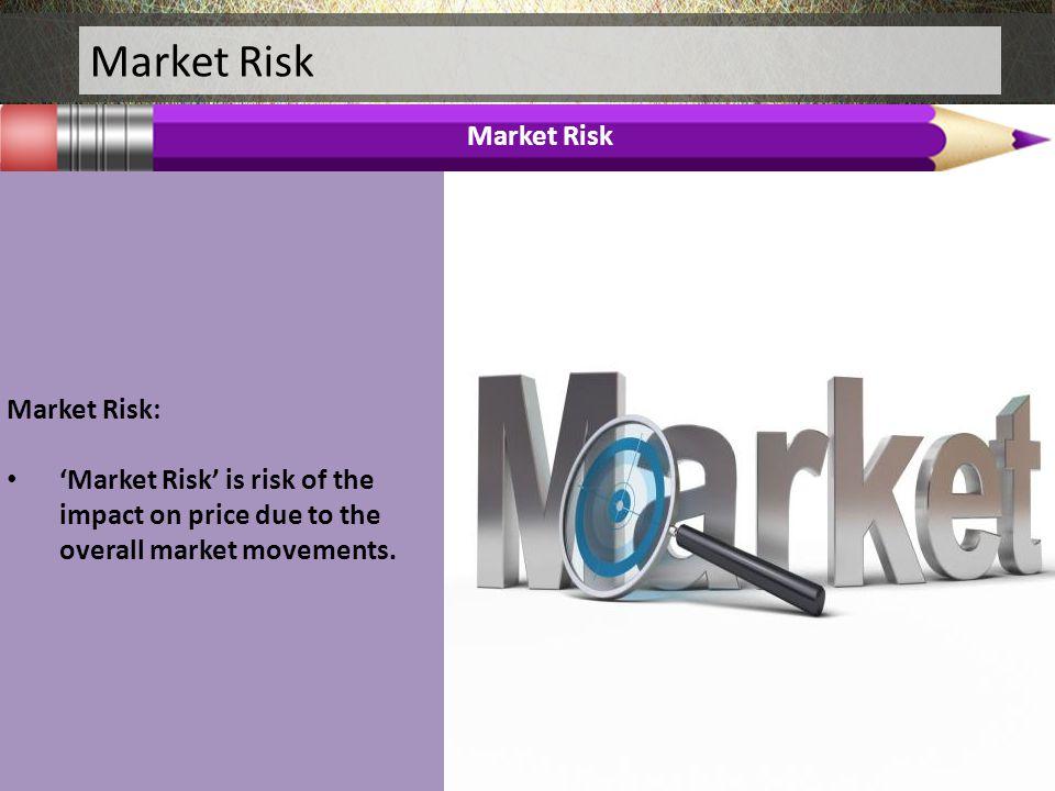 Market Risk Market Risk Market Risk: