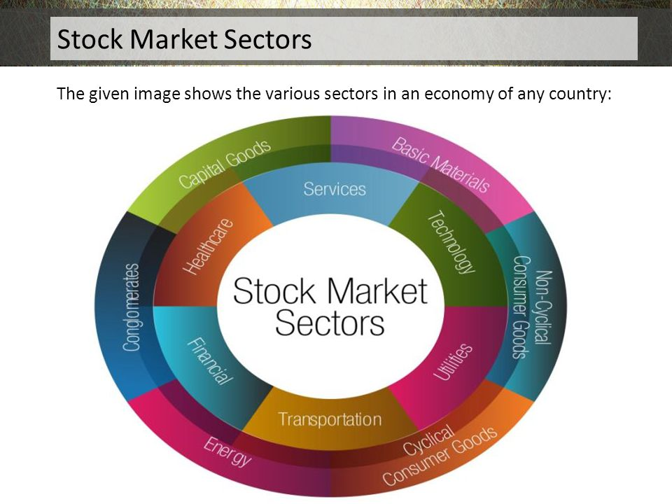 Stock Market Sectors The given image shows the various sectors in an economy of any country: