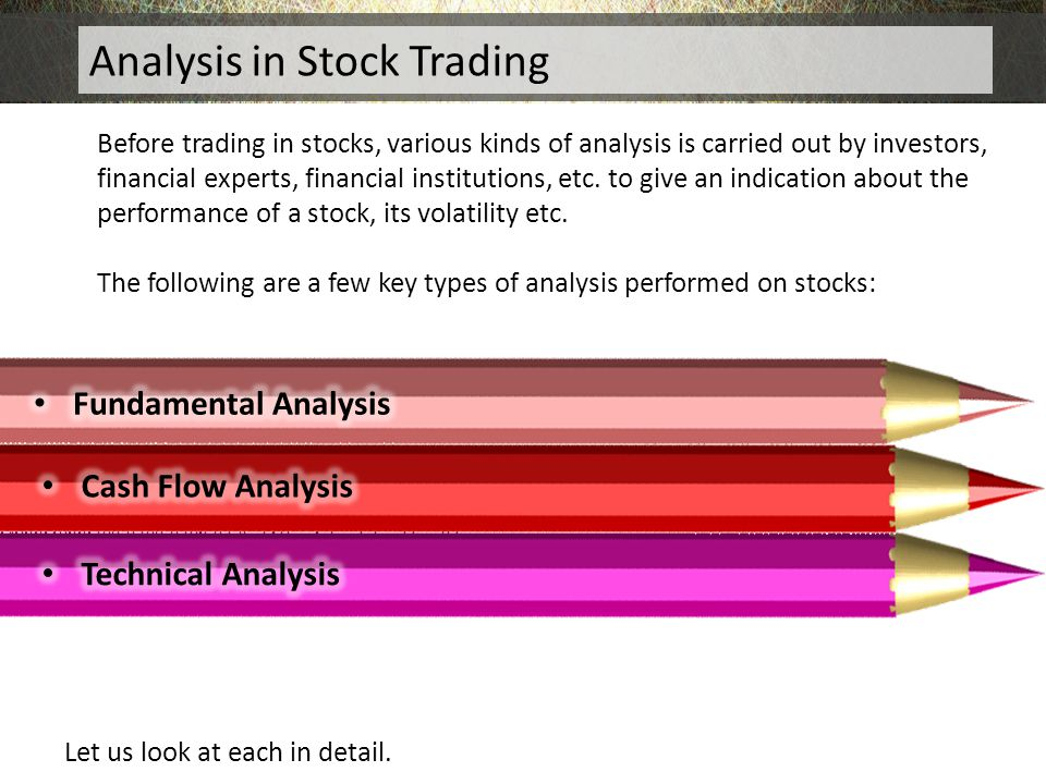 Analysis in Stock Trading