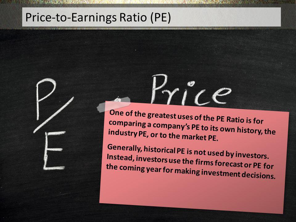 Price-to-Earnings Ratio (PE)