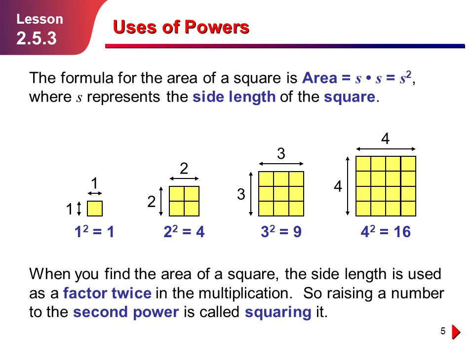 how to find the length of a 32 squared