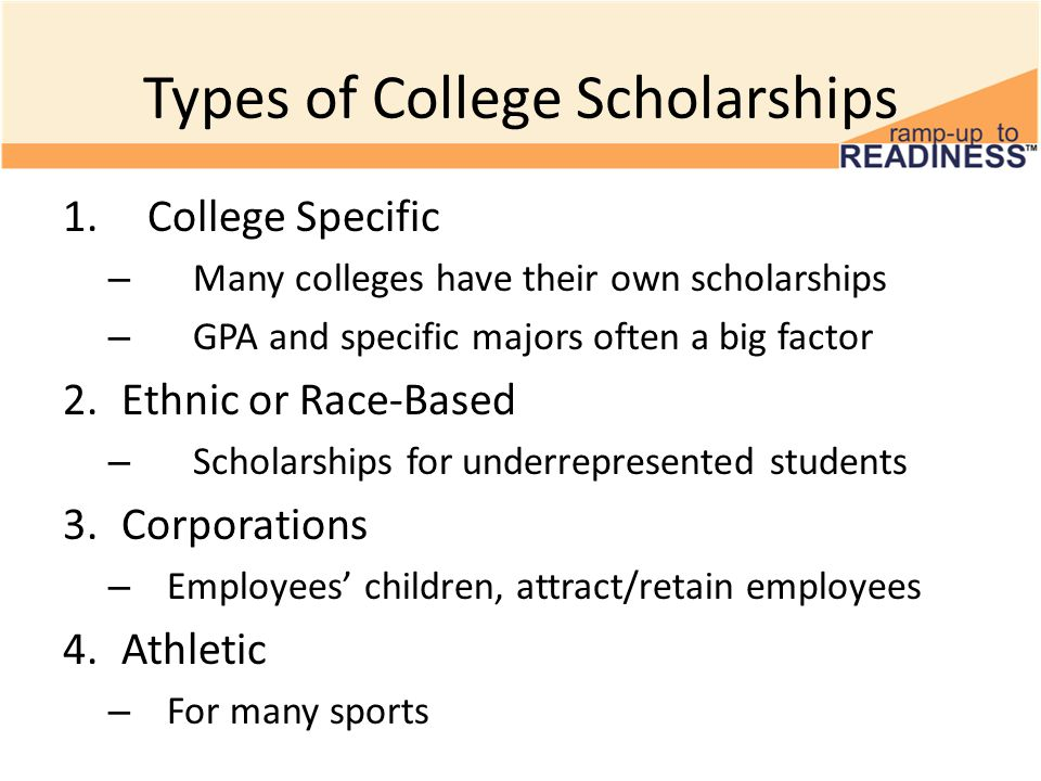 types of college scholarships Types of scholarships general university scholarships financial aid-administered scholarships college & departmental scholarships scholarships resources facebook.