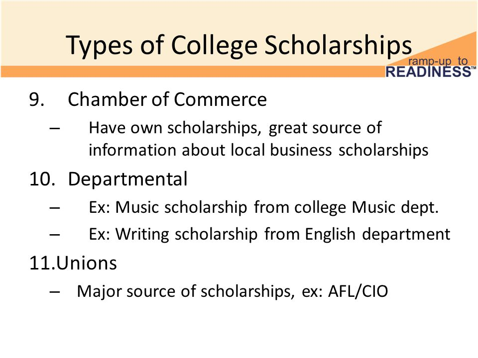 types of college scholarships Henaac scholarship types however, gmis continues to seek more scholarship donors to meet the growing demand of our college-going population.